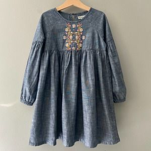 Tucker + Tate Embroidered Chambray Dress Size 5